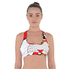 Child Of Artemis Christmas Animal Clipart Cross Back Sports Bra