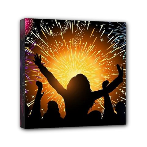 Celebration Night Sky With Fireworks In Various Colors Canvas Travel Bag by Sapixe