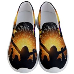 Celebration Night Sky With Fireworks In Various Colors Men s Lightweight Slip Ons by Sapixe
