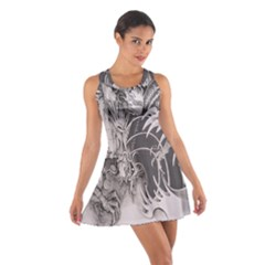Chinese Dragon Tattoo Cotton Racerback Dress