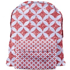 Circles3 White Marble & Red Glitter Giant Full Print Backpack by trendistuff