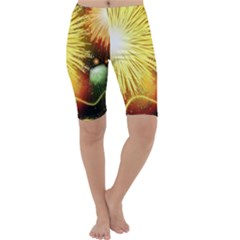 Celebration Colorful Fireworks Beautiful Cropped Leggings  by Sapixe