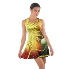 Celebration Colorful Fireworks Beautiful Cotton Racerback Dress by Sapixe