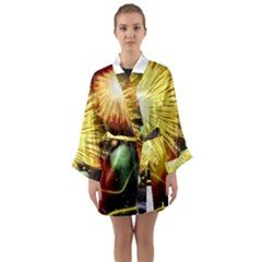 Celebration Colorful Fireworks Beautiful Long Sleeve Kimono Robe