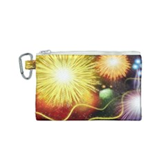 Celebration Colorful Fireworks Beautiful Canvas Cosmetic Bag (small) by Sapixe
