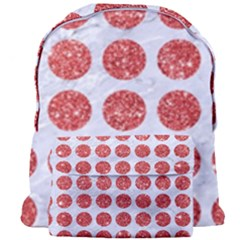 Circles1 White Marble & Red Glitter (r) Giant Full Print Backpack by trendistuff