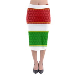 Christmas Banners Clipart Midi Pencil Skirt