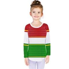 Christmas Banners Clipart Kids  Long Sleeve Tee by Sapixe