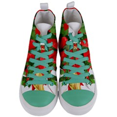 Christmas Clip Art Banners Clipart Best Women s Mid Top Canvas Sneakers