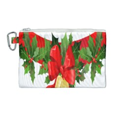 Christmas Clip Art Banners Clipart Best Canvas Cosmetic Bag (large) by Sapixe