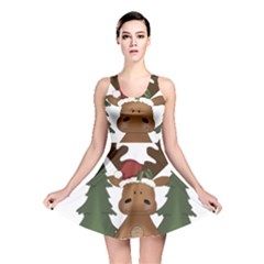 Christmas Moose Reversible Skater Dress