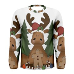 Christmas Moose Men s Long Sleeve Tee