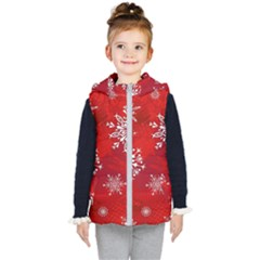 Christmas Pattern Kid s Hooded Puffer Vest by Sapixe