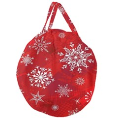 Christmas Pattern Giant Round Zipper Tote by Sapixe