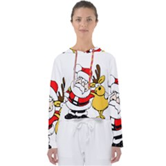 Christmas Santa Claus Women s Slouchy Sweat