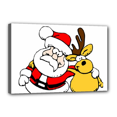 Christmas Santa Claus Canvas 18  X 12  by Sapixe