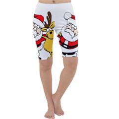 Christmas Santa Claus Cropped Leggings