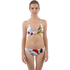 Christmas Santa Claus Wrap Around Bikini Set