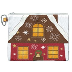 Christmas House Clipart Canvas Cosmetic Bag (xxl) by Sapixe
