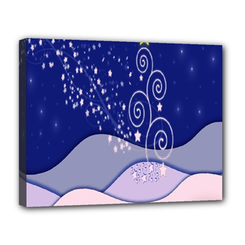 Christmas Tree Canvas 14  X 11  by Sapixe