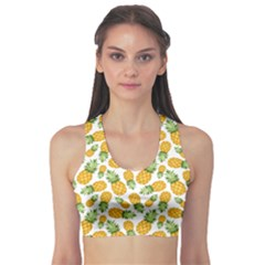 Pineapple Pattern Sports Bra by goljakoff