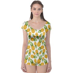 Pineapple Pattern Boyleg Leotard  by goljakoff
