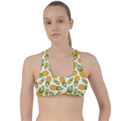 Pineapple Pattern Criss Cross Racerback Sports Bra by goljakoff