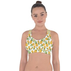 Pineapple Pattern Cross String Back Sports Bra by goljakoff