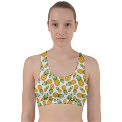 Pineapple Pattern Back Weave Sports Bra by goljakoff