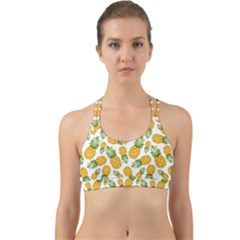 Pineapple Pattern Back Web Sports Bra by goljakoff