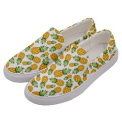 Pineapple Pattern Men s Canvas Slip Ons by goljakoff