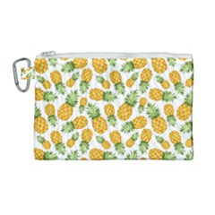Pineapple Pattern Canvas Cosmetic Bag (large) by goljakoff