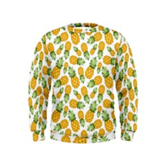 Pineapple Pattern Kids  Sweatshirt by goljakoff