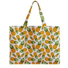 Pineapple Pattern Zipper Mini Tote Bag by goljakoff