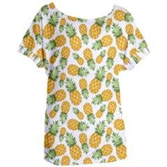Pineapple Pattern Women s Oversized Tee by goljakoff