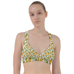 Pineapple Pattern Sweetheart Sports Bra by goljakoff