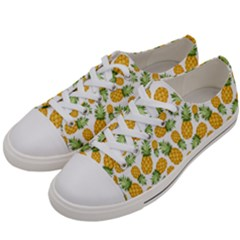 Pineapple Pattern Women s Low Top Canvas Sneakers by goljakoff
