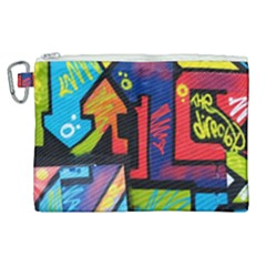 Urban Graffiti Movie Theme Productor Colorful Abstract Arrows Canvas Cosmetic Bag (xl) by MAGA