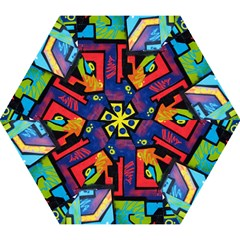 Urban Graffiti Movie Theme Productor Colorful Abstract Arrows Mini Folding Umbrellas by snek