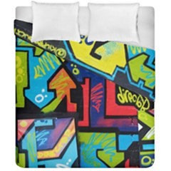 Urban Graffiti Movie Theme Productor Colorful Abstract Arrows Duvet Cover Double Side (california King Size)