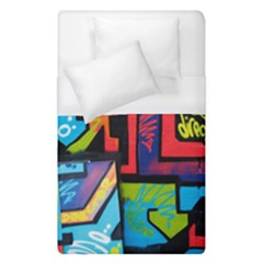 Urban Graffiti Movie Theme Productor Colorful Abstract Arrows Duvet Cover (single Size) by genx