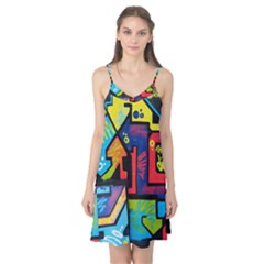 Urban Graffiti Movie Theme Productor Colorful Abstract Arrows Camis Nightgown by MAGA