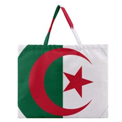 Roundel Of Algeria Air Force Zipper Large Tote Bag by abbeyz71