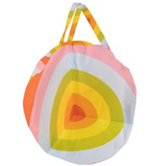 Graffiti Orange Lime Power Blue And Pink Spherical Abstract Retro Pop Art Design Giant Round Zipper Tote by MAGA