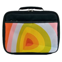 Graffiti Orange Lime Power Blue And Pink Spherical Abstract Retro Pop Art Design Lunch Bag