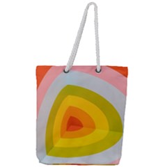 Graffiti Orange Lime Power Blue And Pink Spherical Abstract Retro Pop Art Design Full Print Rope Handle Tote (large)