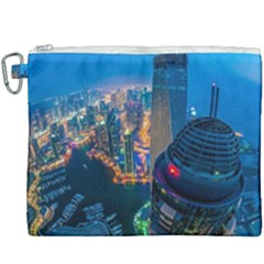City Dubai Photograph From The Top Of Skyscrapers United Arab Emirates Canvas Cosmetic Bag (xxxl)