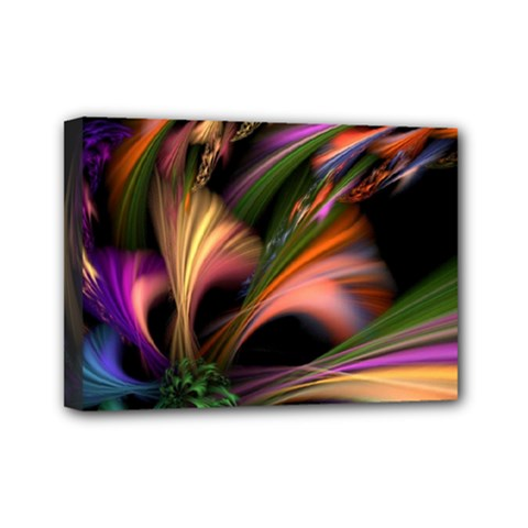 Color Burst Abstract Mini Canvas 7  X 5  by Sapixe