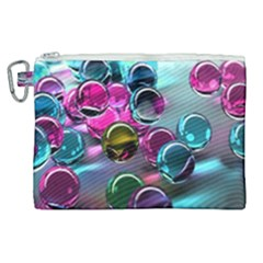 Colorful Balls Of Glass 3d Canvas Cosmetic Bag (xl)