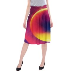 Colorful Glowing Midi Beach Skirt